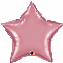 "Mauve Chrome Foil Balloon (20"" Star) 1pc"